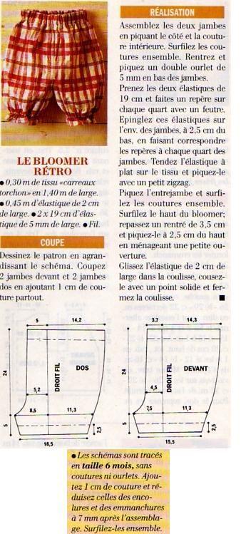 [Couture] Le bloomer rétro - La Boutique du Tricot et des Loisirs Créatifs