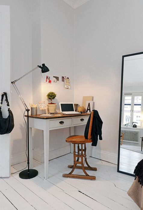Så här skulle vi kunna göra med vårt skrivbord.
