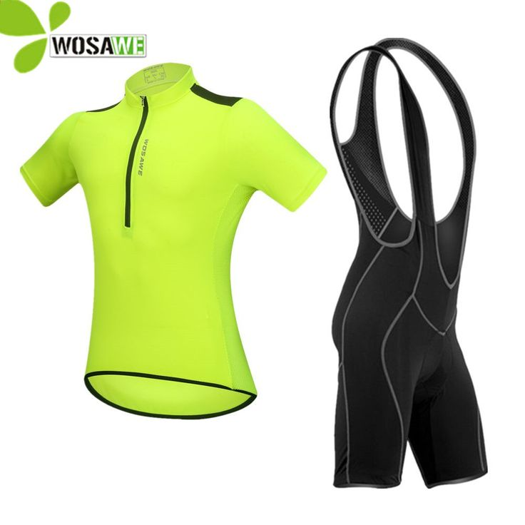 728413759 WOSAWE 3D Gel Padded cycling sets jersey bib shorts suit unisex ropa  ciclismo tight road bike