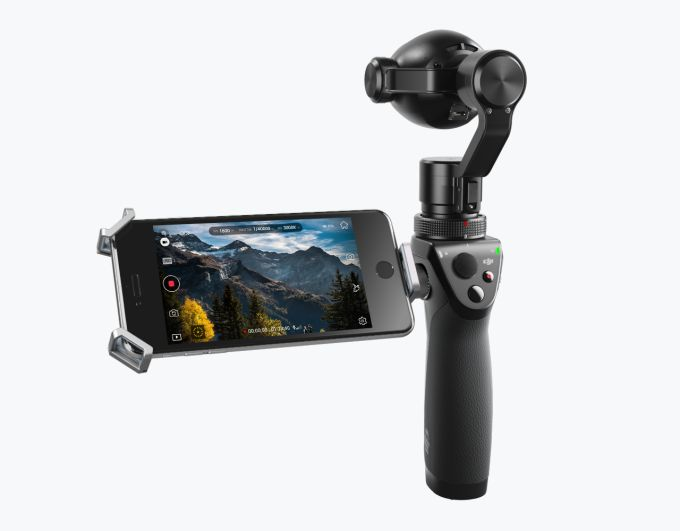 DJI releases 4k handheld gimbal camera with zoom lens motion timelapse