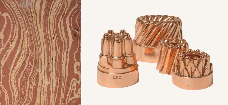 Sols anciens de Fornace brioni / Moule de gelée en cuivre via Goodmoods