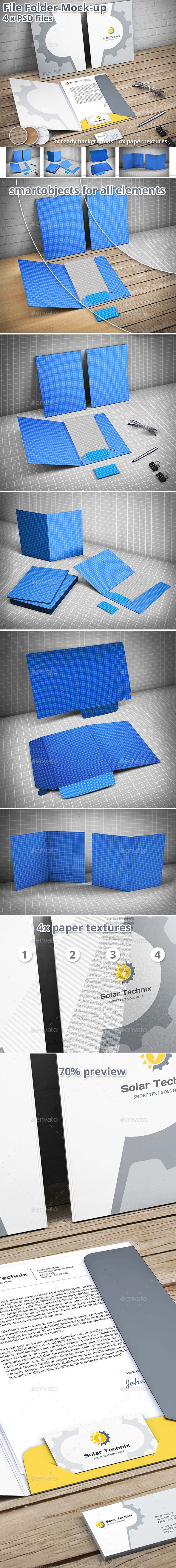Document Folder Mockup - File Folder - Print #Product #Mock-Ups Download here: https://graphicriver.net/item/document-folder-mockup-file-folder/19529969?ref=alena994
