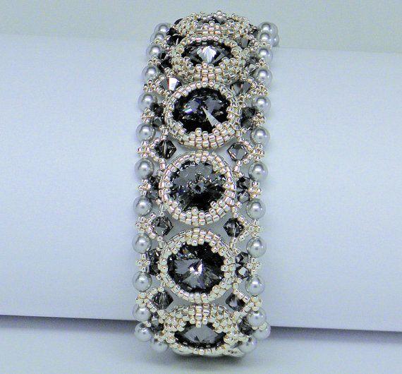 Bracelet avec cristaux Swarovski bracelet de perles de par gitta
