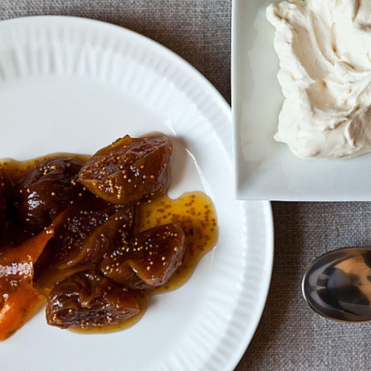 ... Honeyed Figs With Lemon Mascarpone Whipped Cream Recipe — Dishmaps