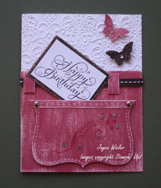 Stampin' Up! Top Note Die by Joyce W: Jean Pocket Happy Birthday