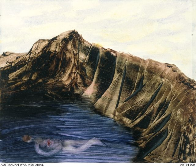 Sidney Nolan - Drowned soldier at Anzac as Icarus