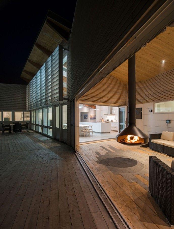 #cheminee ergofocus foyer suspendu pivotant #design contemporain www.focus-creation.com