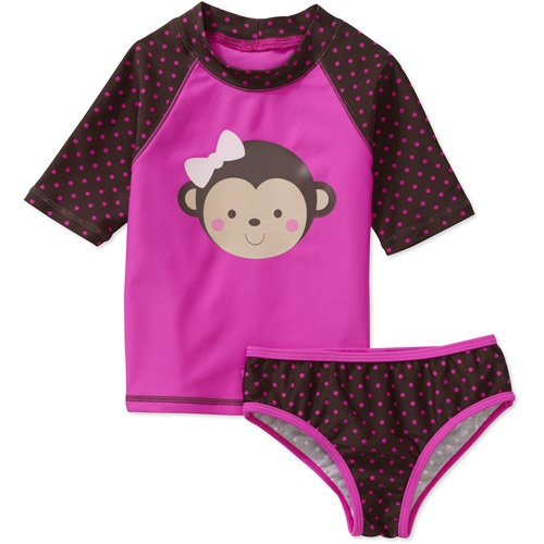 Child of Mine by Carters Baby Girls 2-Piece Rashguard and ...