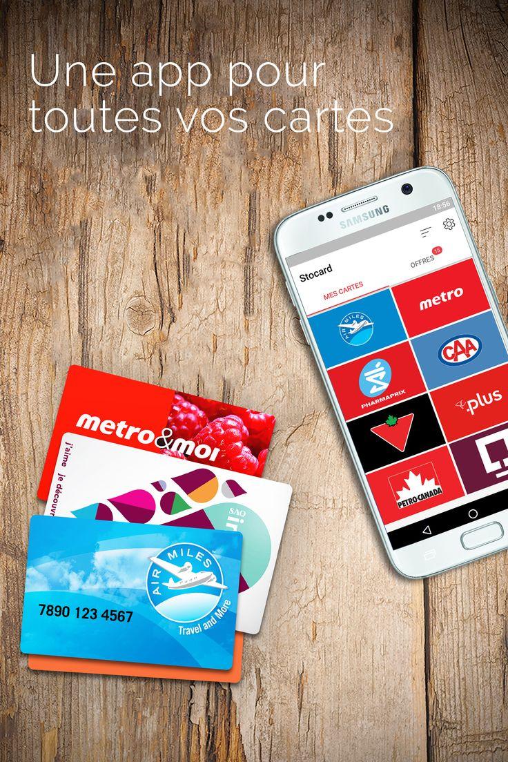 Débarrassez-vous des cartes plastiques ! Toutes vos cartes dans une seule app.