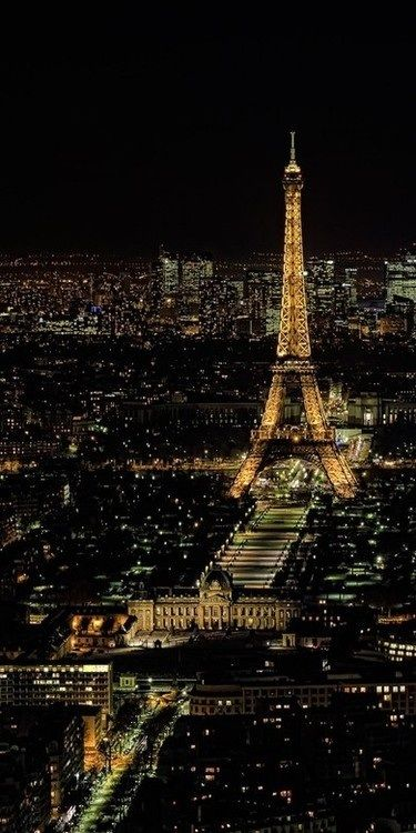 Beautiful Paris at night.