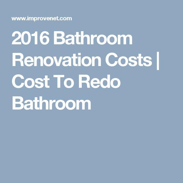 Contemporary Art Sites  Bathroom Renovation Costs Cost To Redo Bathroom
