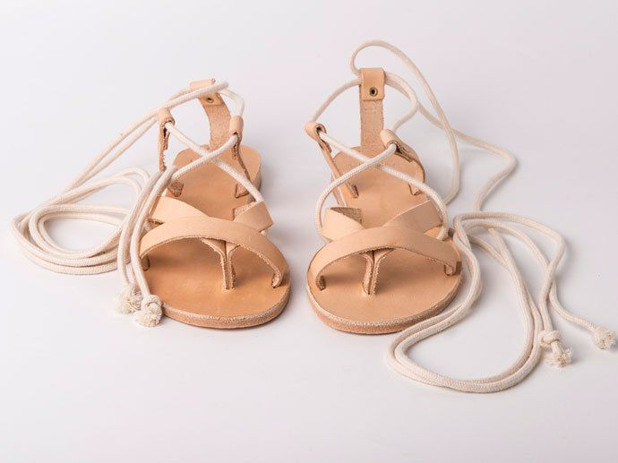 Eleanna Katsira Sandals   Eleanna Katsira chose to give rope - frequently used in sailing and climbing - a new life by combining it with top quality leather and adding it to her SS16 designs! All Eleanna Katsira Sandals bear names of Greek islands and have been created for those of us seeking aesthetics even in our most minimal and casual looks.   Greek Sandals