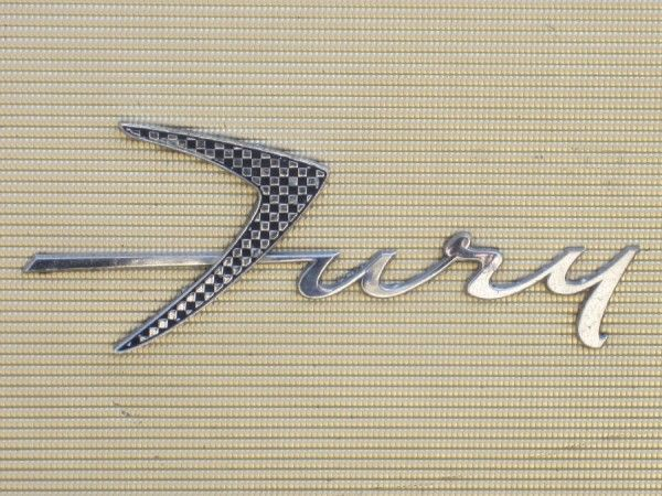 Vintage '59 Plymouth Fury logo from Beast Pieces collection - check 'em out  http://www.beastpieces.com/2012/06/vintage-vehicle-logotypes/#
