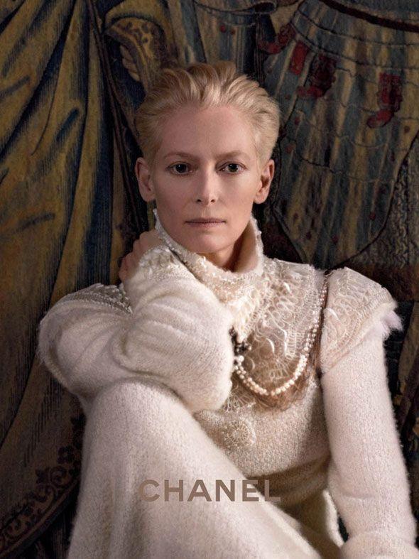 Tilda Swinton Chanel FW 2013