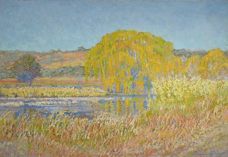 File:Pierneef 1925 Willow Tree, Rooiplaat Farm, Northern Transvaal - Sunrise.jpg