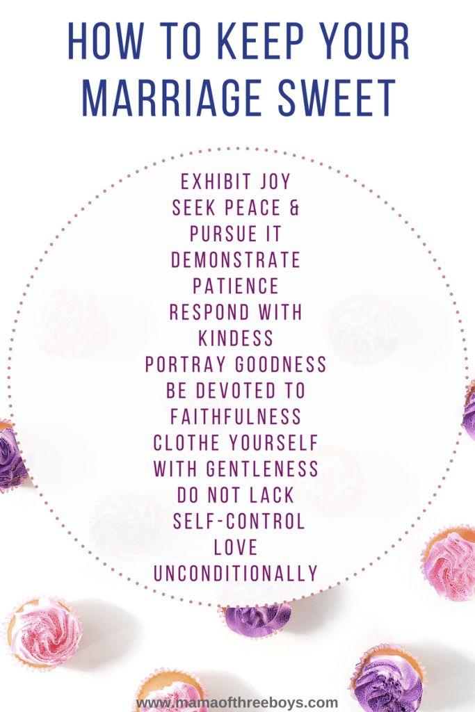Biblical advice to keep marriage sweet