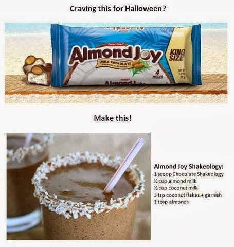 Almond Joy Shakeology Recipe. clean eating meal replacement shake! Replace your halloween candy with this recipe!!! Stay on track!