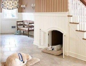 hondenhok binnen 300x232 Creatieve hondenhokken