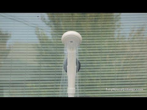A Simple, Portable, Pressurized Shower Solution (12v runs off batteries, solar power or car cigarette lighter), tinyhouselistings.com