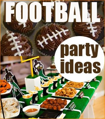 Football Season DIY Party Ideas, great food ideas for a tailgate party before the big game.
