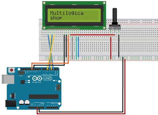 Tutorial Multilógica-Shop Arduino Display LCD