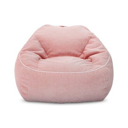 XL Corduroy Bean Bag Chair - Pillowfort™ - Daydream Pink