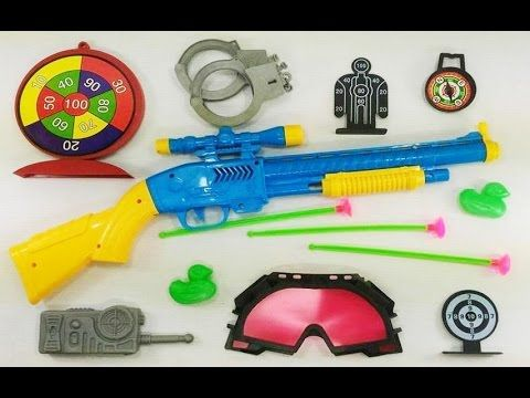 TOY GUN POLICE SET VIDEO Toy Gun for Kids 2017 Colourful Nerf Gun Shoote.