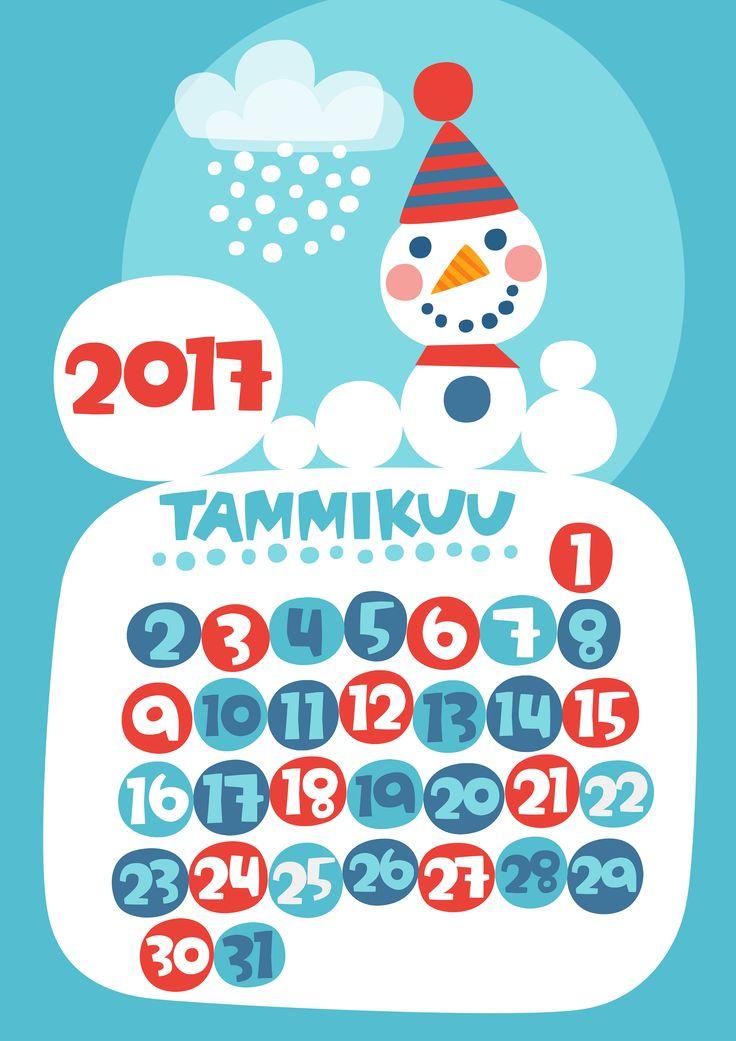 Tammikuu 2017 | free | printable | pattern | lasten | lapset | askartelu | kalenteri | vuosikalenteri | seinäkalenteri | tulostettava | paperi | koti | sisustus | kids | children | crafts | home | paper | calendar | Pikku Kakkonen