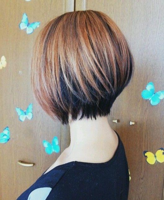 30 penteados curtos do inverno: bonito Bob corte de cabelo para meninas