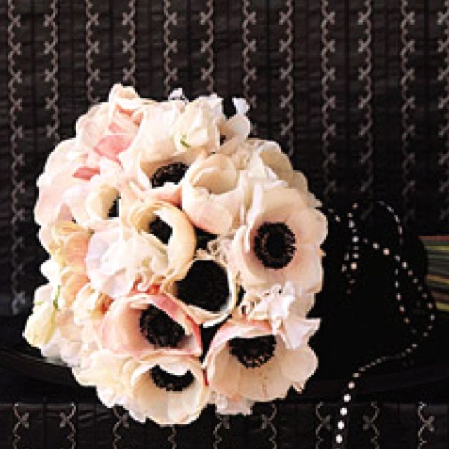 Pink anemone bouquet! Its perfect for my Chanel wedding