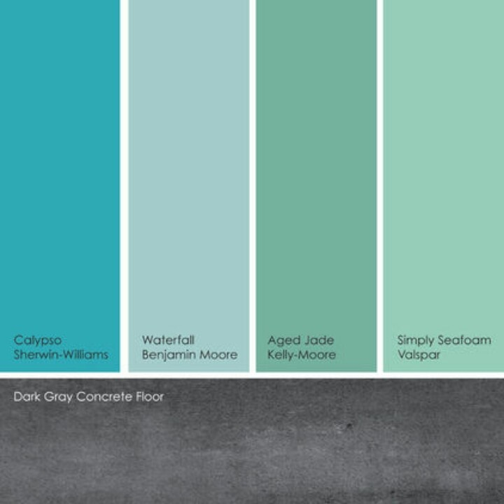 Aquamarines, blue-greens, jade, seafoam | Color Palettes