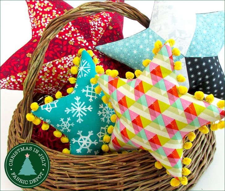 Star Pillows: Christmas in July with Fabric Depot | Sew4Home