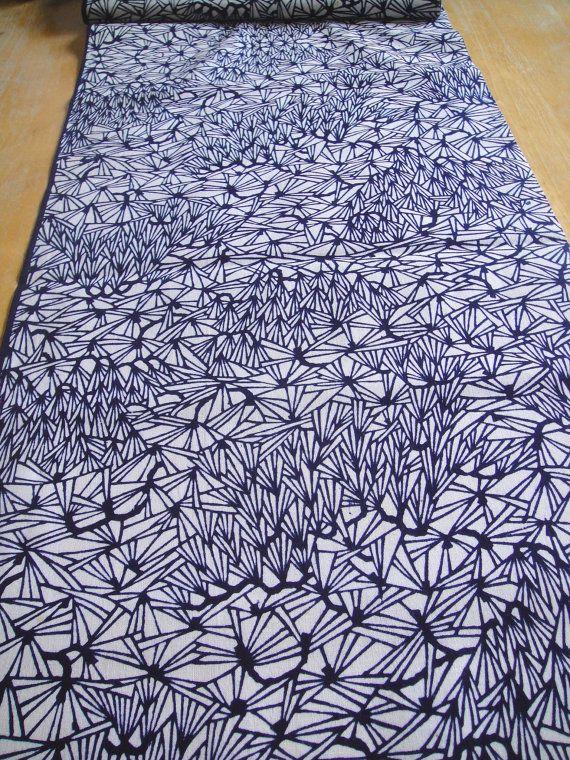 Etsy listing: Cotton japanese yukata kimono fabric indigo