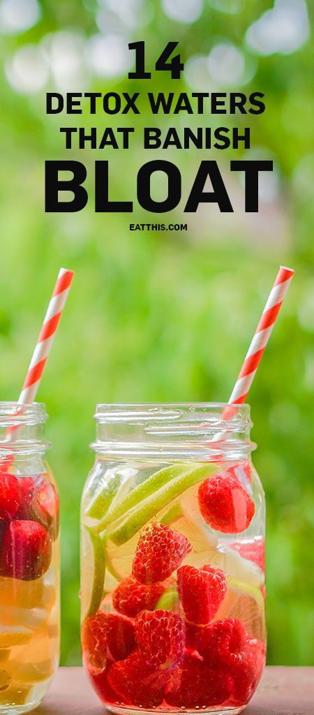 14 Detox Waters That Banish Bloat | Drink up this list of delicious detox waters from healthy Instagrammers to inspire you to be creative and reach your weight loss goals with your next water bottle refill.
