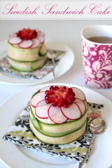 Swedish Sandwich Cake recipe @ Not Quite Nigella