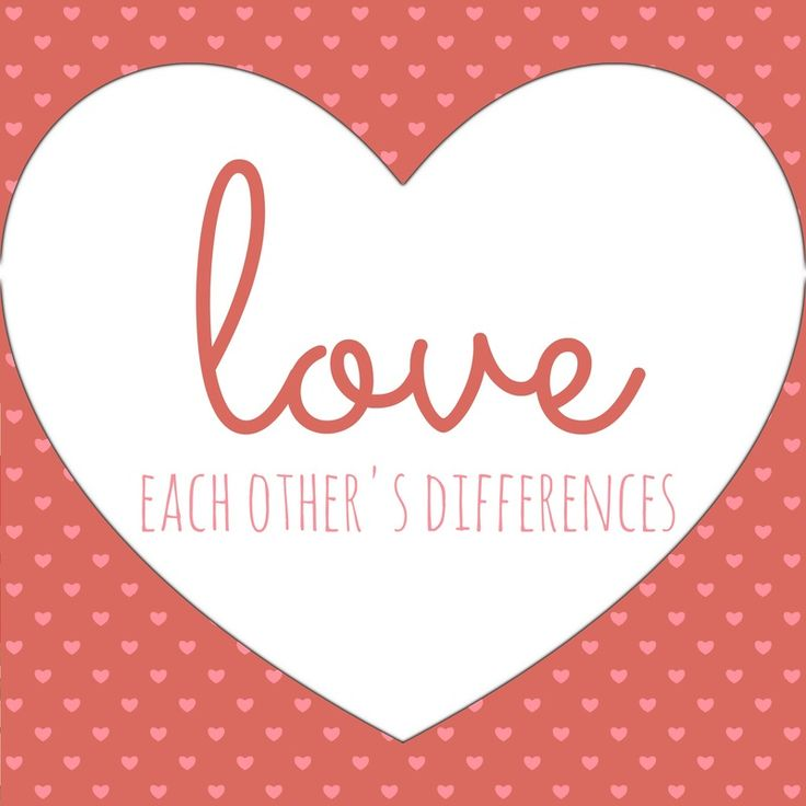 love each others differences