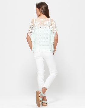 PAVEMENT BRANDS - ANGEL 2FA KNIT TOP (MINT) + ANNIE WHITE DENIM JEANS