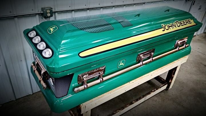 Now I've seen everything. A John Deere coffin