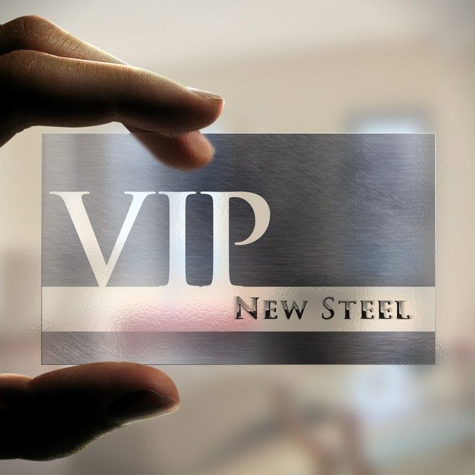 Design a Modern VIP Card for New Steel by kendhie