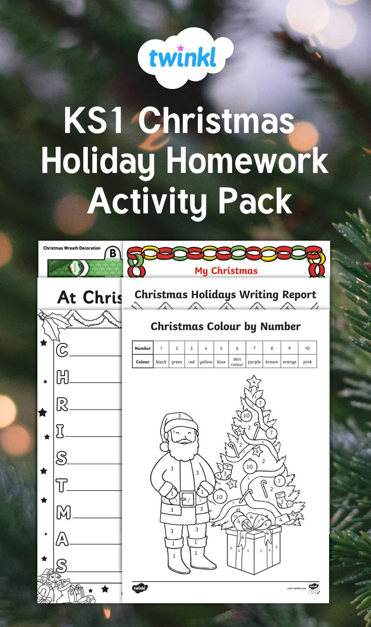 Inspire your class with this KS1 Christmas Holiday Homework Pack, which contains loads of fun and entertaining resources to keep your children busy over the Christmas season.