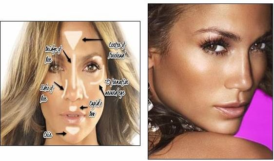 Celebrities for celebrity highlighter makeup celebritypix how to apply highlighter to your face get that celebrity makeup look for your holiday ccuart Images