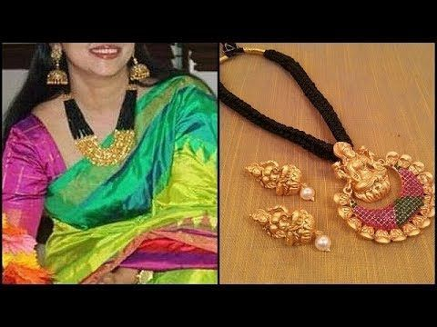Latest Gold Necklace Designs in Black Thread - YouTube #GoldJewelleryWithPrice #GoldJewellery1Gram