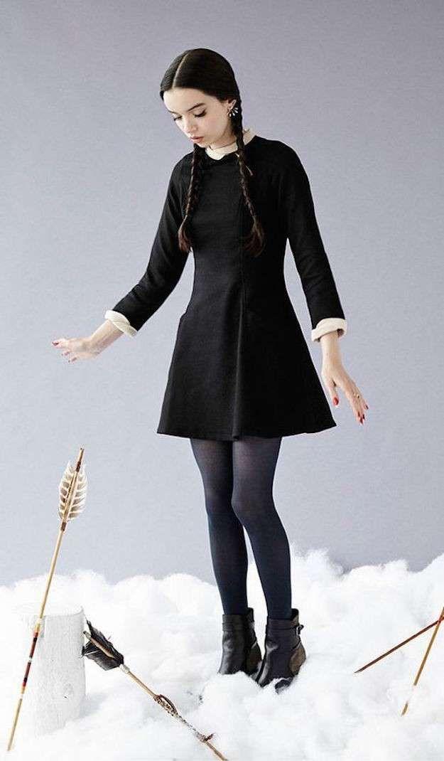 Disfraces de personajes famosos: fotos de los disfraces - Disfraz de Miércoles Addams