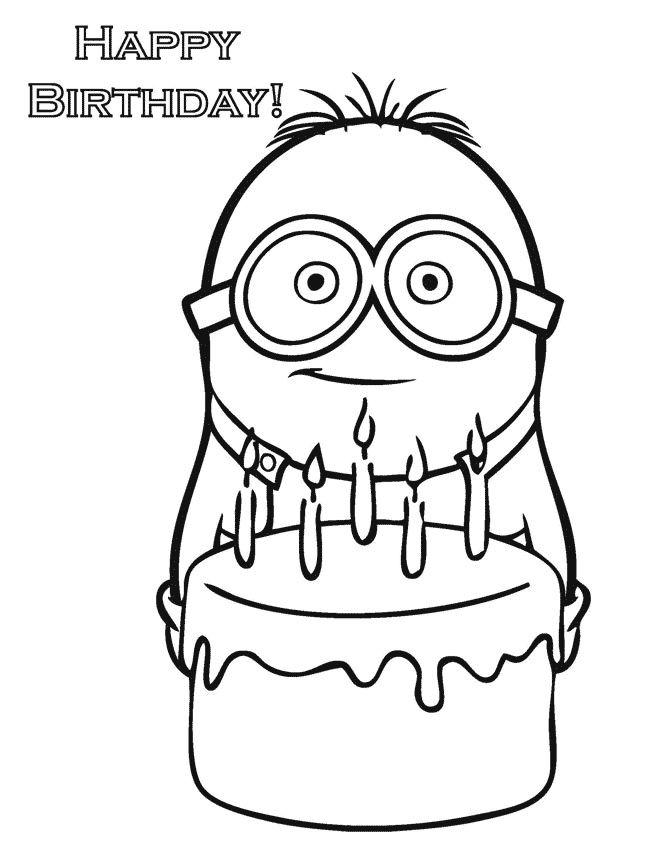 Dibujo de los Minions para imprimir y colorear (11 de 24