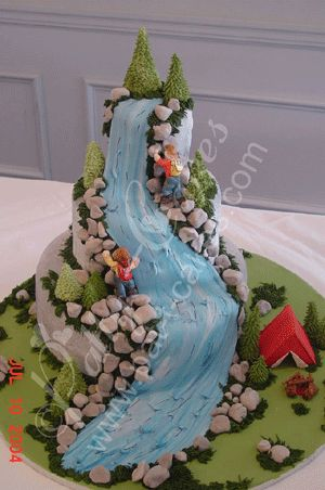 Climbing up the waterfall:  Not a cake I made - but one I would like to try.