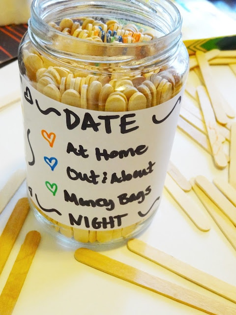 date night surprise jar: definitely gonna make this so i never run out of fun!