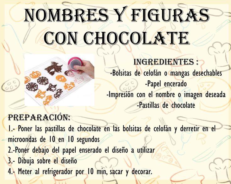 Nombres y Figuras con chocolate