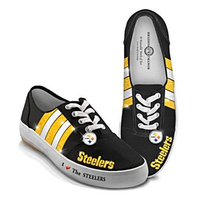 I have always wanted Pitsburgh Steeler shoes!!! - I LOVe these!!! NFL-Licensed Pittsburgh Steelers Women's Canvas Sneakers