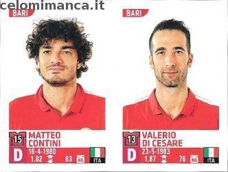 Calciatori 2015-2016: Fronte Figurina n. 609 Matteo Contini - Valerio Di Cesare