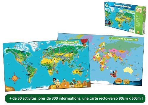 Leapfrog – 80885 – Jeu Educatif – TAG – Mappemonde Interactive (lecteur Tag non inclus) | Your #1 Source for Toys and Games